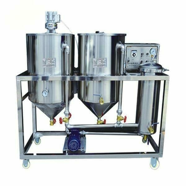 small cooking oil refinery machine