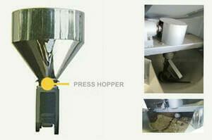 oil press machine hopper